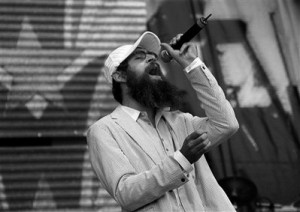 FILE - In this Sept. 9, 2007 file photo, Matisyahu performs at Farm Aid on Randall's Island in New York.