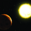 An artist's endering of an exoplanet