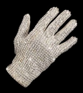 Michael Jackson's infamous glove sold for over $48,000.
