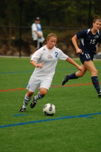 UNH Women's soccer player #2 Emily Buckly-Matura
