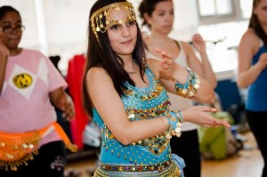 Students being taught how to belly dance. (Steve Blazo  Photography)
