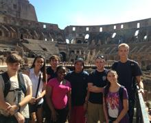 A group of UNH students who studied at the University's campus in Tuscany last fall / UNH Today Photo