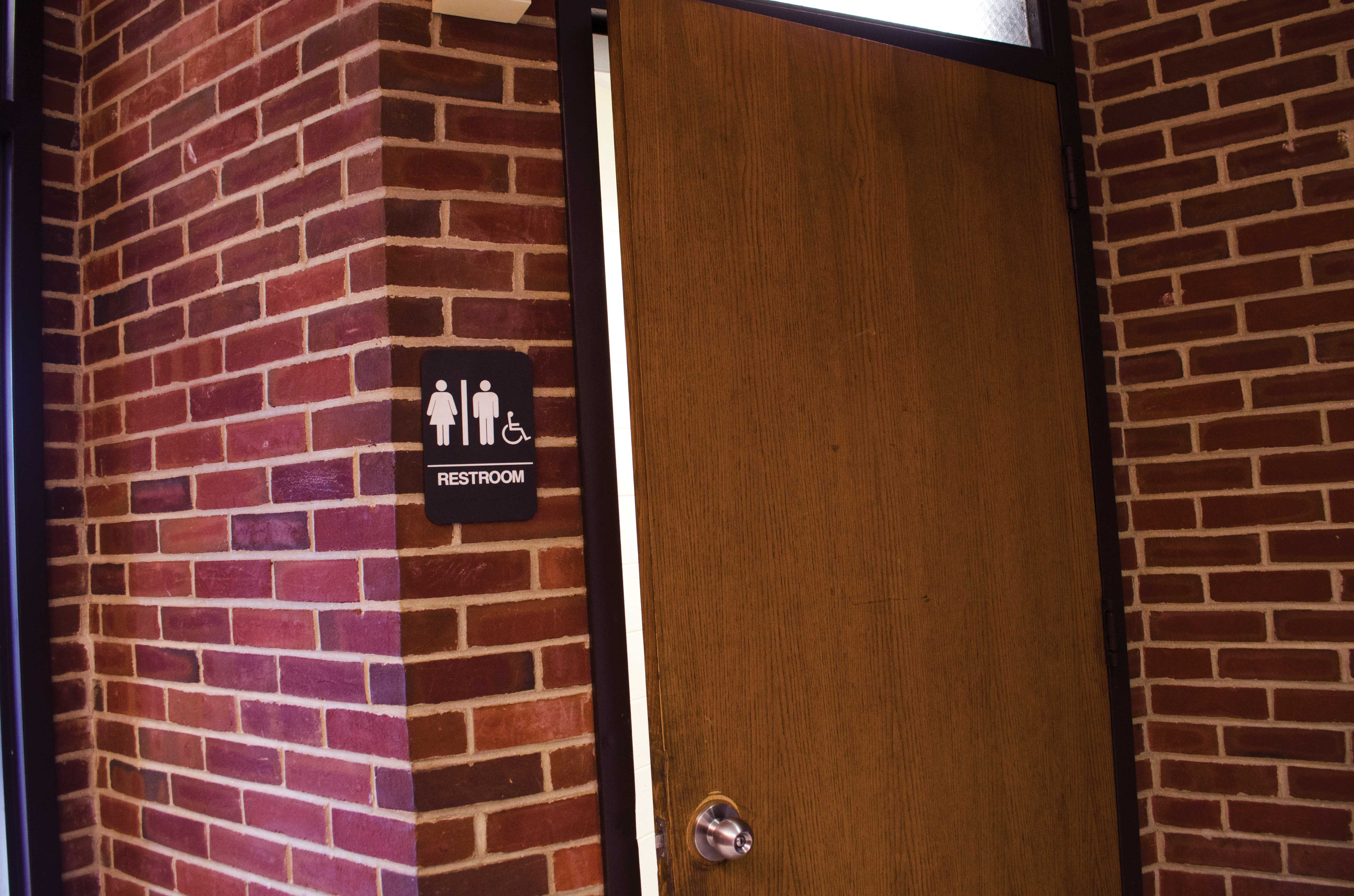 Gender Neutral bathroom located on 1st floor of Kaplan Hall (Samantha Mathewson/Charger Bulletin Photo)