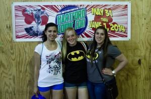 Liana Teixeira, Samantha Mathewson and Elissa Sanci at Comic Con (Charger Bulletin Photo)