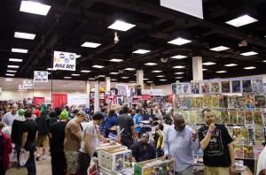 Comic book vendors set up tents around the XL Center (Charger Bulletin Photo)