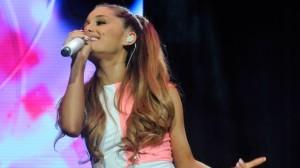 Ariana Grande performing in East Rutherford, NJ June 29, 2014. (AP photo)