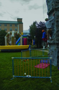 Students rock climbing at LAU's Condor Carnival. (Photo by Nicholas McDermott / Charger Bulletin photo)