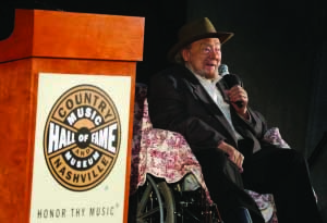 Mac Wiseman being inducted into the Country Music Hall of Fame in Nashville (Photo provided by Wiseman's manager)