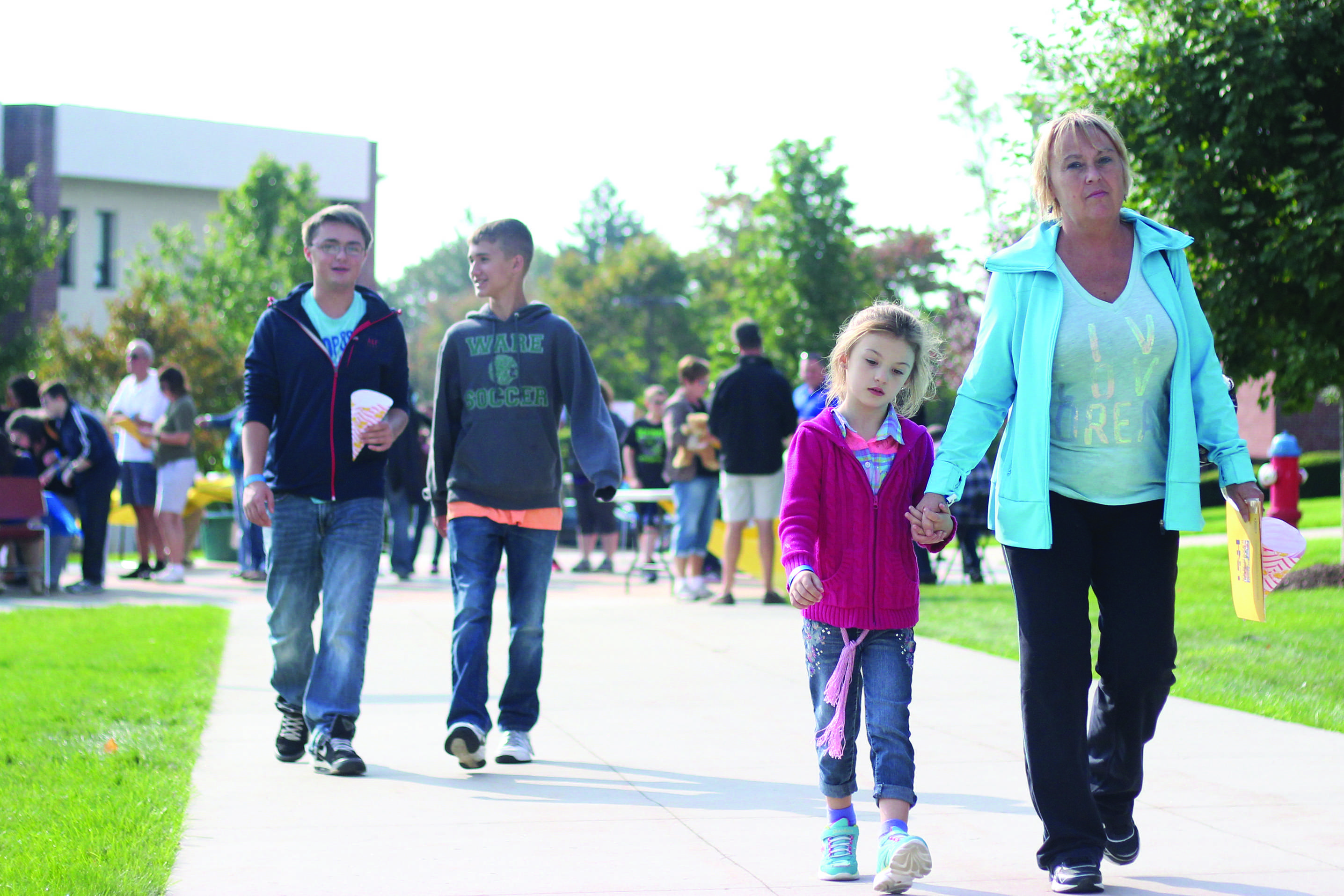 Families come to campus