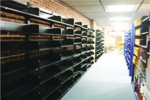 Before library renovations  (Photos by Dean Bergstrom)