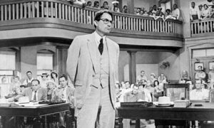 Gregory Peck as Atticus Finch in the 1962 film version of To Kill a Mockingbird (AP photo)