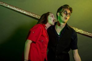 Lauren Granato and Joshua Richards posing at Zombie Prom 2014 (Photo provided by UNH Photography Club)