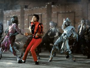A scene from Michael Jackson's classic Thriller music video  (Photo provided by Michael Jackson fan club)
