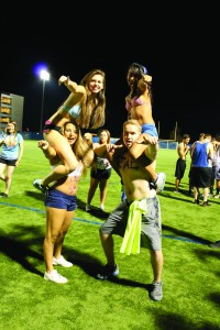 Swimsuit Sprint was the start to Homecoming Weekend  (Photo by Erica Naugle/Charger Bulletin photo)