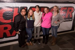 Aaron Carter poses with fans in the WNHU station (Photo by WNHU)