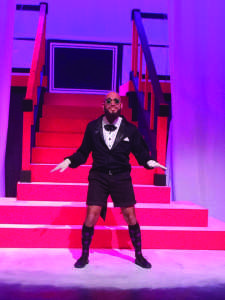 Tyler Prigionieri played Riff Raff in UNH's The Rocky Horror Show (Photo by Keegan O'Connor/Backstage crew)