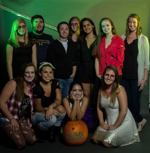 Up 'til Dawn e-board at Zombie Prom (photo by UNH Photography Club)