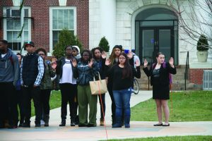 Students partaking in a nationwide protest against the ruling of the Darren Wilson case   (Photo by Kaitlin Mahar/Charger Bulletin photo)