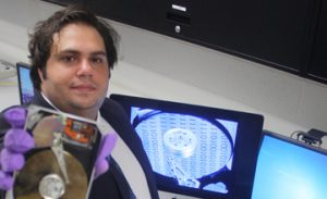 Dr. Ibrahim Baggili, assistant professor at UNH, presented on cyber forensics, Feb. 18  (Photo obtained via http://www.chooseunh.com)