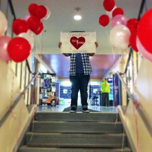 Fully Charged delivered Sweetheart Serenades for Valentine's Day  (Photo obtained via Fully Charged's Facebook)