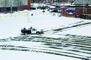 Kayo field being cleared after the first storm (Photo by Leah Myers / Charger Bulletin Photo)