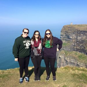 Jess and her friends Cassidy and Marissa in Ireland (Photo provided by Jess Sullivan/Charger Bulletin photo)