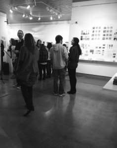 Students admiring the artwork (Photo by Francesca Fontanez)