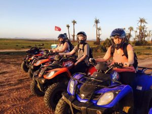 Jess and her friends riding ATVs in Morocco; this was only one of her many adventures abroad  (Photo provided by Jessica Sullivan)