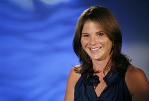 "In this July 23, 2009 photo, Jenna Bush Hager poses for a portrait in New York. NBC's ""Today"" show has hired Hager as a correspondent."