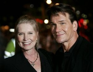 In this Nov. 28, 2005 file photo, actress Patrick Swayze, right, accompanied by his wife Lisa Niemi pose prior to the premiere of his film 'Keeping Mum' in central London. Swayze's publicist Annett Wolf says the 57-year-old 'Dirty Dancing' actor died Monday, Sept. 14, 2009, after a nearly two-year battle with pancreatic cancer.