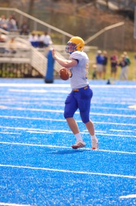 University of New Haven Criminal Justice major and sophomore quarterback of the Chargers #15 Ryan Osiecki had a large role in this Saturday's win against Lincoln University Lions.