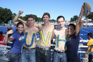 UNH students show their school spirit at last Saturday's home football game!