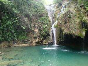Waterfall seen on a Friday hike to Rio Buti (Charger Bulletin Photo/ Samantha Higgins)