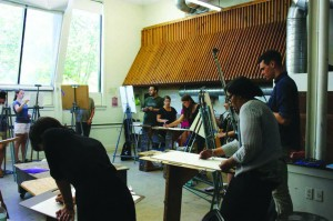 One of many art classes offered at Lyme Academy (photo by Katherine Fainer/ Charger Bulletin Photo)