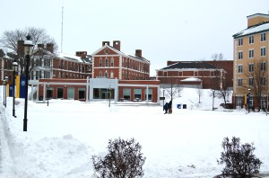 The Bixler-Botwinik quad full of snow (Photo by Richard Carter)
