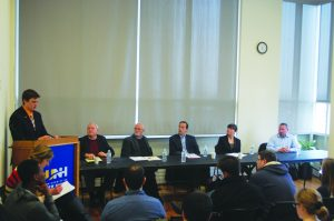 The Delphi panel was hosted by the economics department, where decision making is stressed as part of their core curriculum (Photo by Nick McDermott/Charger Bulletin Photo)