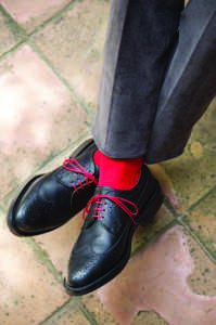 A professional shoe and sock combination  (Photo obtained via Pinterest)