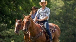 Scott Eastwood as Luke, and Britt Robertson, as Sophia, in a scene from the film The Longest Ride  (AP photo)