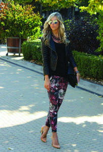 Floral pants are great way to incorporate floral into your daily casual look (Photo obtained via Zara.com)