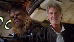 An aged Harrison Ford returns to the screen for Star Wars: The Force Awakens (AP photo)