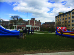 : On Thursday April 23, the Marine Biology Club held a carnival in the Bixler/Botwinik Quad (Photo by Francesca Fontanez)