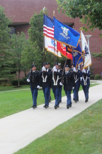 Members of the UNH ROTC program presented the colors at the beginning of the ceremony.