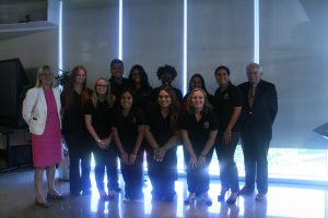The students who participated in the Fellowship with Dean Johnson and Professor Marty O'Connor (Charger Bulletin photo)