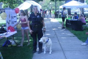 Officer Novella and Nia enjoyed the festivities  (Jaime Graden/Charger Bulletin photo)
