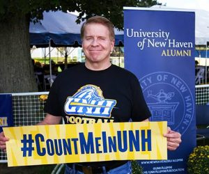 Jeffery Hazell is a long time benefactor of UNH  (Photo obtained via the University of New Haven Facebook page)