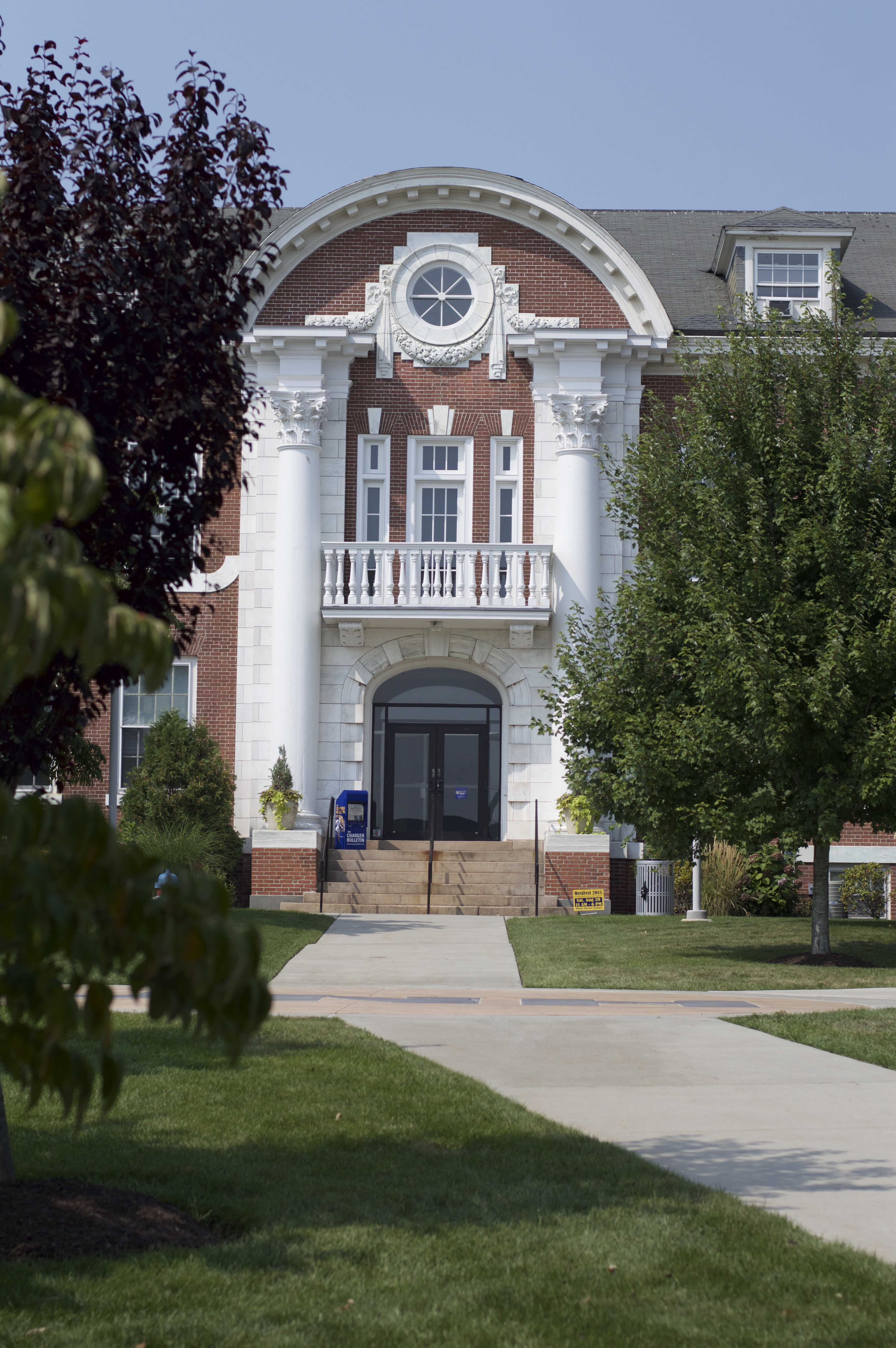 Maxcy Hall is one of the most recognizable buildings on the UNH campus (Photo by Thomas Stringer/ Charger Bulletin Photo)