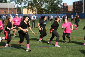 Girls participating in the Powderpuff tournament  (Photo by Jaime Graden/Charger Bulletin photo)