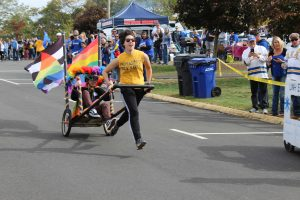 UNH PRIDE participated in the USGA Chariot Races (Photo by Jaime Graden/Charger Bulletin photo)