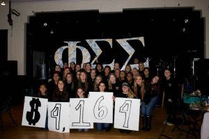 Phi Sigma Sigma raised over $4,000 for their national philanthropy (Photo by Samantha Reposa/Charger Bulletin photo)
