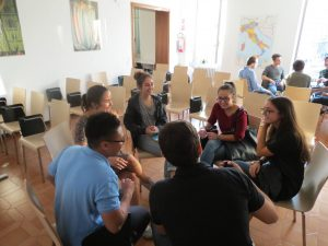 Students participating in conversation exhange (Photo provided by Takeisha Sinclair)